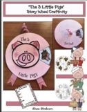 """""""The 3 Little Pigs"""" Fairy Tale Storytelling Craft Wheel"""