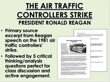 """The Air Traffic Controllers Strike (1981)"" - Ronald Reagan - USH/APUSH"