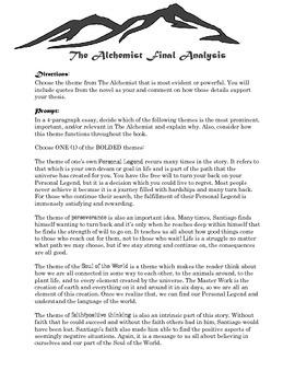 """The Alchemist"" Essay"