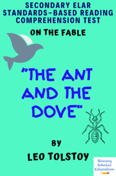 """""""The Ant and the Dove"""" Fable by Leo Tolstoy Multiple-Choice Reading Test"""
