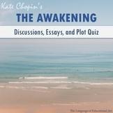 """The Awakening"" Essay Topics, Rubric, and Plot Quiz (Multiple Formats)"