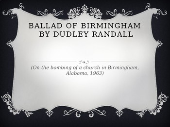 the ballad of birmingham