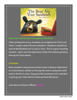 """""""The Bear Ate Your Sandwich"""" - GA Picture Book Award Nomin"""