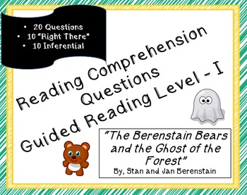 """The Berenstain Bears and the Ghost of the Forest"" 20 reading comp; Halloween"