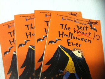"""""""The Best Halloween ever"""" books, by Barbara Robinson - Literature Circle Set"""