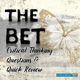 """""""The Bet"""" by Anton Chekov--Critical Thinking Questions & Q"""