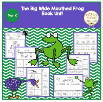 """The Big Wide Mouthed Frog"" Book Unit No Prep!"