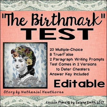 """The Birthmark"" Test - Nathaniel Hawthorne"