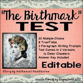 """The Birthmark"" Test - Nathaniel Hawthorne"