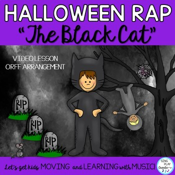 """Halloween Rhythm Rap and Game """"The Black Cat"""" with Orff Ar"""