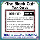 """The Black Cat"" by Edgar Allan Poe Task Cards with EDITABLE Templates"