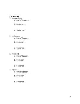 """The Boar Hunt"" (Vasconcelos) Active Reading Guide"