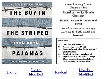 """The Boy in the Striped Pajamas"" Chapters 1 & 2: Active Reading Guide"