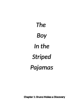 """""""The Boy in the Striped Pajamas"""" novel unit"""