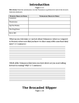 """""""The Brocaded Slipper"""" Reading Packet"""