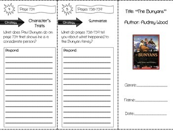 """The Bunyans"" Comprehension Trifold (Storytown Lesson 28)"