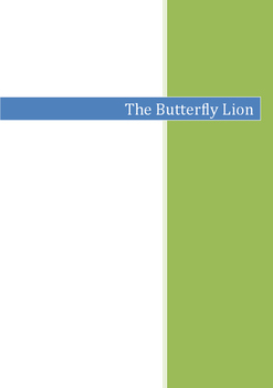 THE BUTTERFLY LION MORPURGO: COMPLETE GUIDED READING CLOSE READING UNIT OF WORK