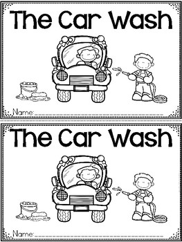 """The Car Wash"" A June/Summer Emergent Reader and Response Dollar Deal"