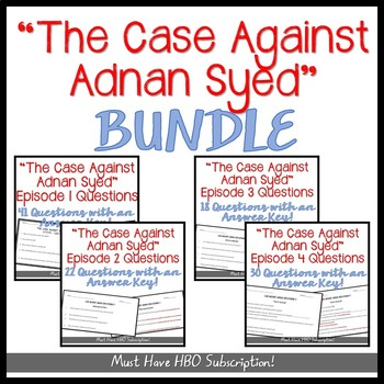 """""""The Case Against Adnan Syed"""" MOVIE GUIDE BUNDLE"""