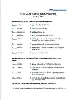 """""""The Case of the Gasping Garbage"""" Story Test- Scott Foresm"""