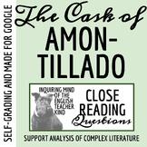 """The Cask of Amontillado"" Close Reading Worksheet & Key"