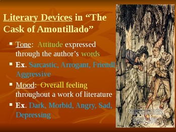 """""""The Cask of Amontillado"""" Power Point Notes"""