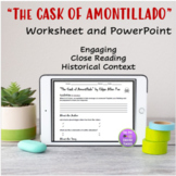 """""""The Cask of Amontillado"""" Worksheet and PowerPoint"""