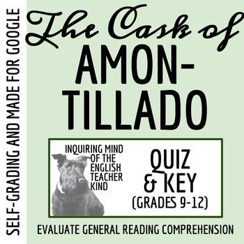"""""""The Cask of Amontillado"""" by Edgar Allan Poe - Quiz & Key"""