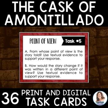 """The Cask of Amontillado"" by Edgar Allan Poe Task Cards"