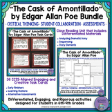 """The Cask of Amontillado"" by Poe Close Reading Unit & Task Cards Bundle"