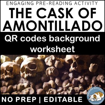 """The Cask of Amontillado"": QR Codes Background Worksheet"