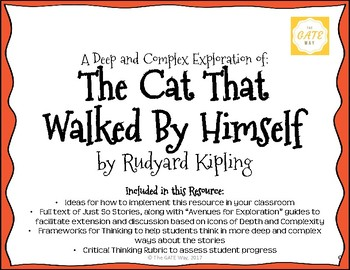 """The Cat That Walked By Himself"" Just So Stories with Depth and Complexity"