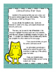 """""""The Cat Who Became A Poet"""" Supplemental Journal Activity Pack"""