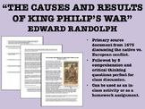 """The Causes and Results of King Philip's War"" - US History/APUSH"