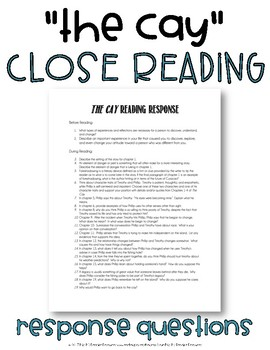 The Cay Reading Response Questions