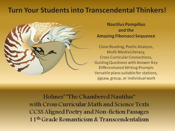 """The Chambered Nautilus"" Transcendental Poetry with Math and Science Texts"