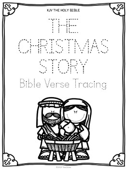 """FREE """"The Christmas Story"""" Bible Verse Tracing"""