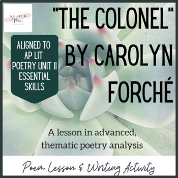 """""""The Colonel"""" Poem Study"""