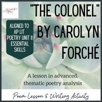The Colonel Poem Lesson