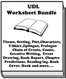"""""""The Color of My Words"""" by Lynn Joseph UDL worksheet bundle (22 assignments)"""