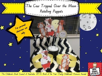 """The Cow Tripped Over the Moon"" drama and retelling puppets"