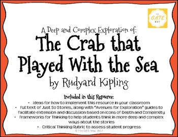 """""""The Crab that Played with the Sea"""" Just So Stories with Depth and Complexity"""