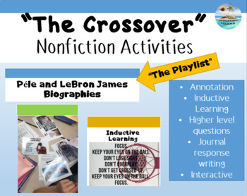 """""""The Crossover"""" by, Kwame Alexander - Nonfiction connections Péle LeBron James"""