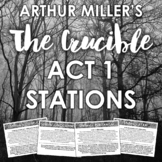 """""""The Crucible"""" Act 1 Learning Stations: Engaging Analysis"""