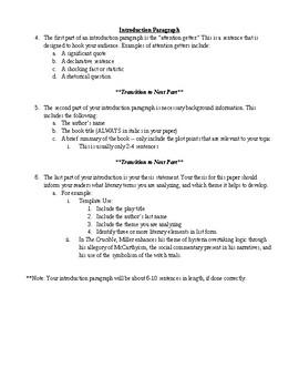 The crucible analysis essay