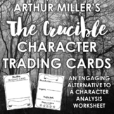 """""""The Crucible"""" Character Trading Cards: Engaging Alternative to Character Chart"""