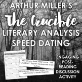 """""""The Crucible"""" Speed Dating: Engaging Literary Analysis Discussion Activity"""