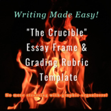 """The Crucible"" Timed Writing/ Non-Timed Writing Essay Frame with Grading Rubric"