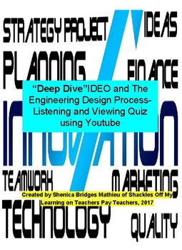"""""""The Deep Dive"""" - The Engineering Design Process (free for a limited time only)"""