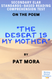 """The Desert Is My Mother"" Poem by Pat Mora Reading Comprehension Test"